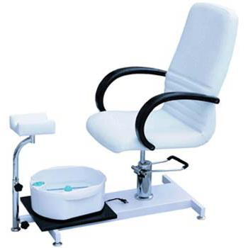 Hydraulic pedicure chairs with foot bath