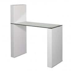 Features: Manicure Table With A Simple Design. Consists Of Toughened Glass  Top And White 2 PAC Finish. It Can Be Assembled To Suit Either Left Or  Right Hand ...
